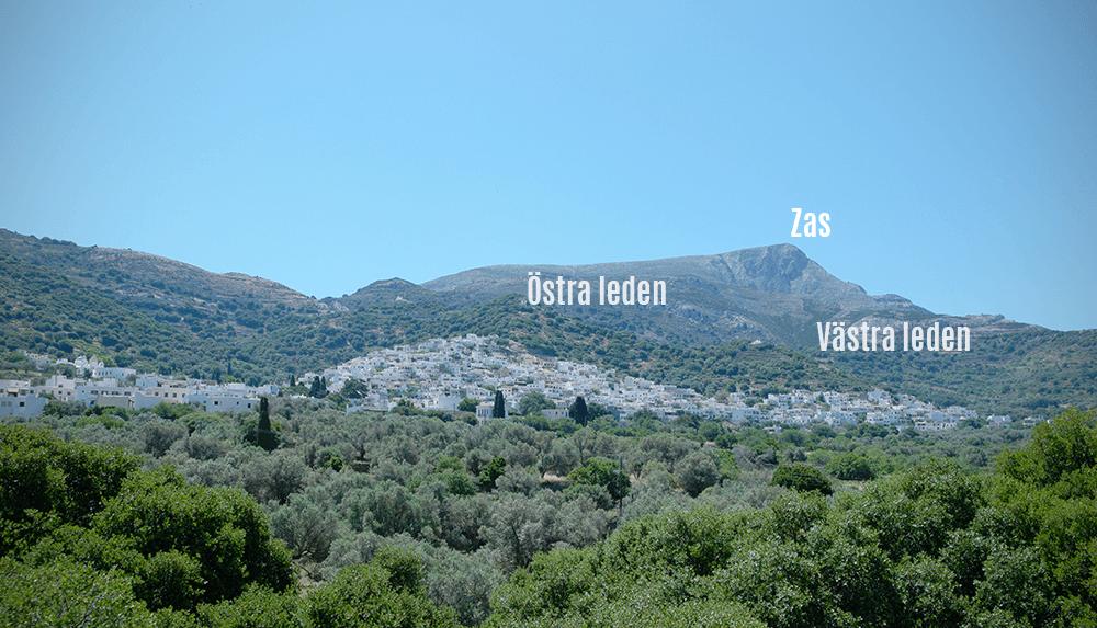 Att vandra på Naxos berget Zas