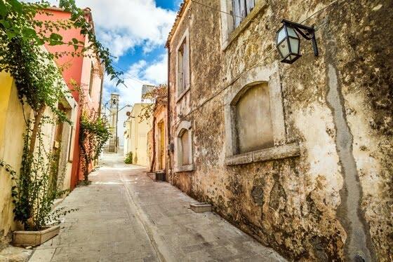 Stad på Kreta