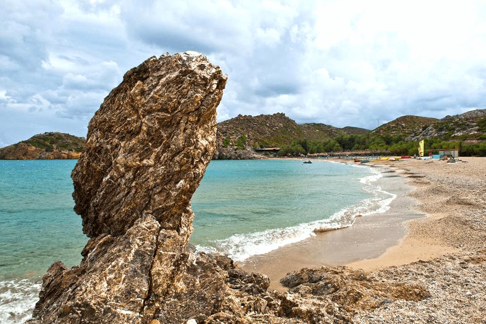 Vai Beach en del av Sitia Geopark