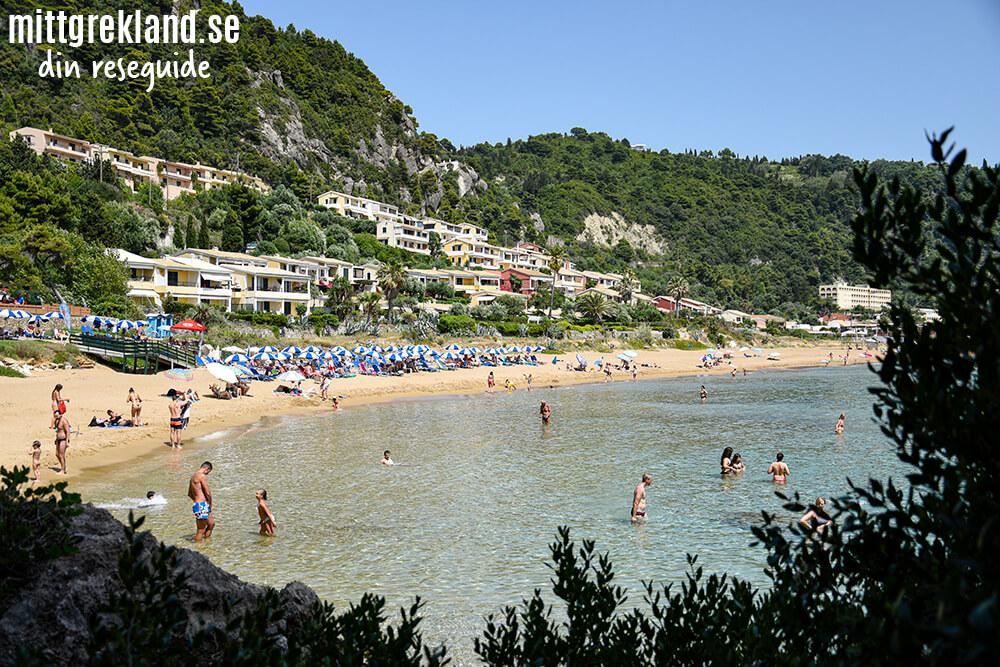 Glyfada beach på Korfu